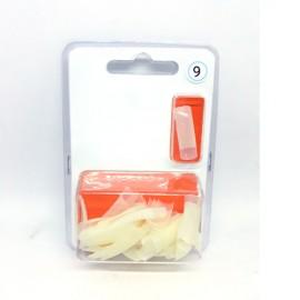 XN Natural Nail Tips Size 9 - 50pcs