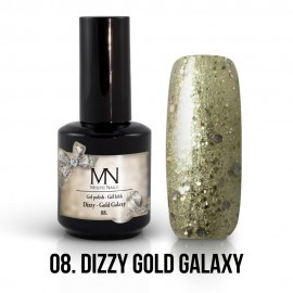 Gel Polish Dizzy no.08. - Dizzy Gold Galaxy 8 ml