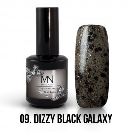 Gel Polish Dizzy no.09. - Dizzy Black Galaxy 8 ml