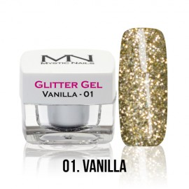 Glitter Gel - no.01. - Vanilla - 4g