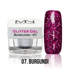 Glitter Gel - no.07. -  Burgundi - 4g