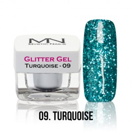 Glitter Gel - no.09. - Turquoise - 4g
