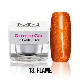 Glitter Gel - no.13. - Flame - 4g