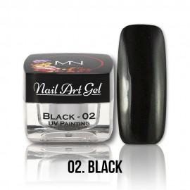 UV Painting Nail Art Gel - 02 - Black