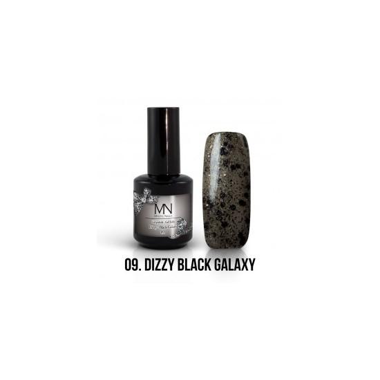 Gel Polish Dizzy no.09. - Dizzy Black Galaxy 8 ml