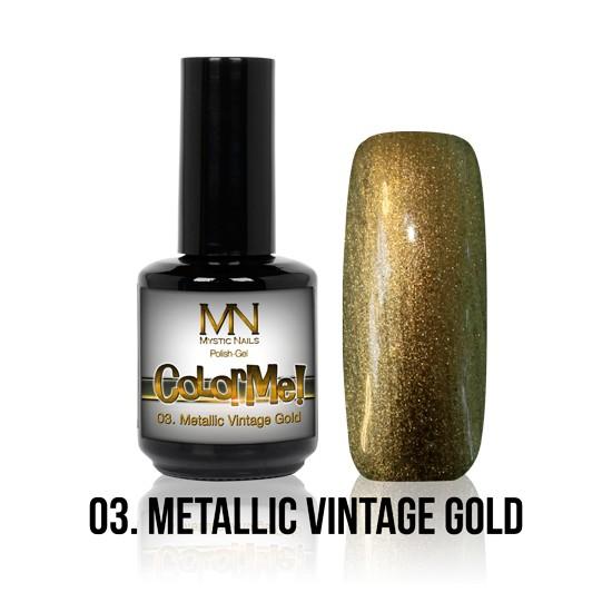 ColorMe! Metallic 03. - Metallic Vintage Gold 12 ml