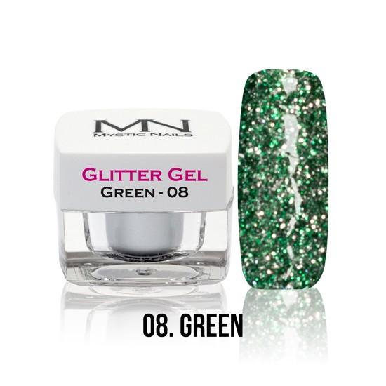 Glitter Gel - no.08. - Green - 4g