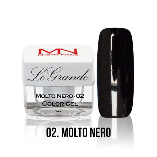 LeGrande Color Gel - no.02. - Molto Nero - 4 g