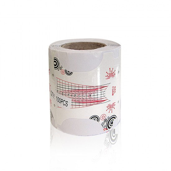 Nail Form Roll - Edge-Bridge  100 pcs / roll