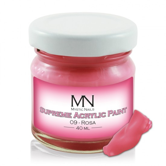 Supreme Acrylic Paint - no.09. Rosa - 40 ml
