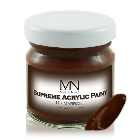 Supreme Acrylic Paint - no.11. Marrone - 40 ml