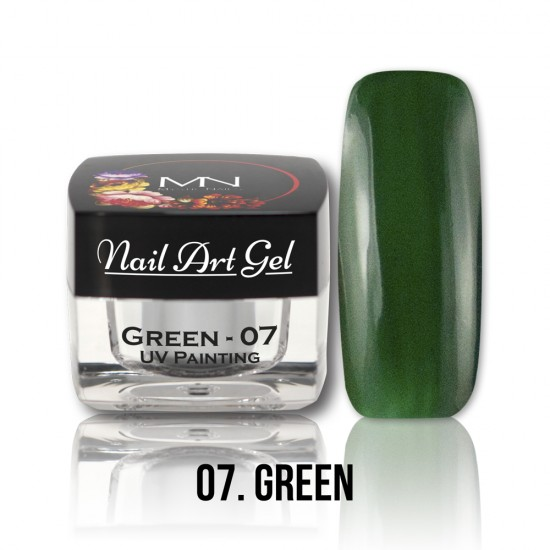 UV Painting Nail Art Gel - 07 - Green