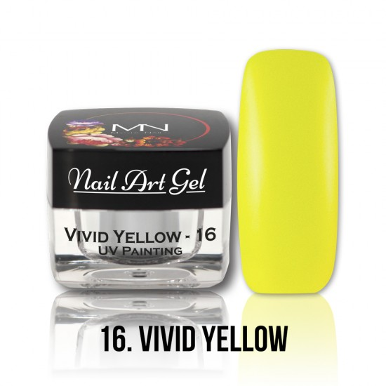 UV Painting Nail Art Gel - 16 - Vivid Yellow